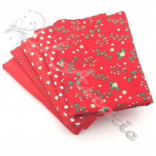 5 Fat Quarter Bundle Christmas 100% Cotton (X35)