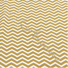 Mustard & White Chevron Fabric 100% Cotton