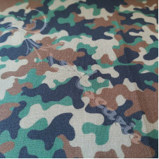 Army Green & Brown Camo 100% Digital Cotton