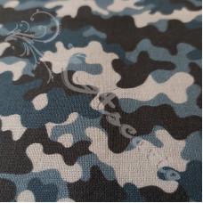 Blue Camo 100% Digital Cotton