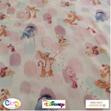"Disney ""Winnie the Pooh, Piglet, Eeyore & Tigger "" 100% Cotton Print"