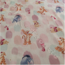 "Disney ""Whiney the Pooh, Piglet, Eeyore & Tigger "" 100% Cotton Print"