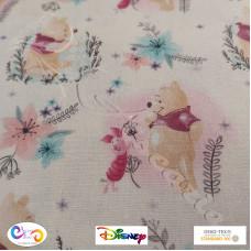 "Disney ""Winnie the Pooh & Piglet "" 100% Cotton Print"