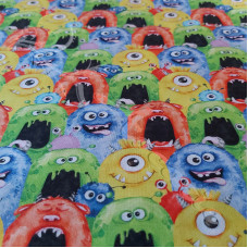 Monster Madness  100% Digital Cotton