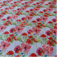 Country Poppies 100% Digital Cotton