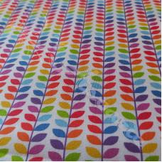 Rainbow Leaves 100% Digital Cotton