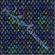 Blue Dragon Scales  100% Digital Cotton