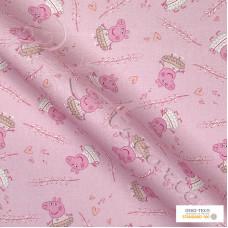 """ Peppa Pig "" 100% Digital Cotton Print"