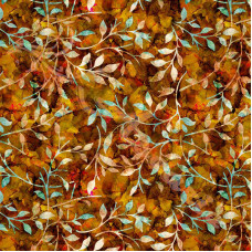 Leafy Trail Batiks  Autumn 100% Cotton Poplin