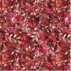 Leafy Trail Batiks Pinks 100% Cotton Poplin