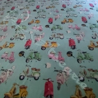 Scooters digital Print 100% Cotton Fabric