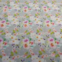 1/2 metre Rambling Roses on Grey 100% Digital Cotton