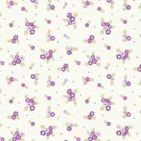 Ditsy Flowers Grape 100% Cotton
