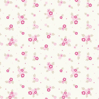 Ditsy Flowers Pink 100% Cotton