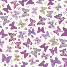 Flutterby Butterflys in Grape 100% Cotton