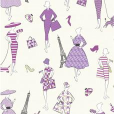 Glamour Ladies Grape 100% Cotton