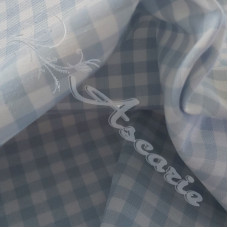 """1/4"""" Baby Blue Cotton Gingham"""