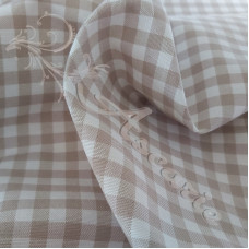 """1/4"""" Taupe Cotton Gingham"""
