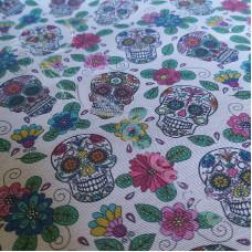 Cotton Rich Flower Power Skulls