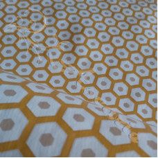 PVC Table Coverings Mustard - beige spot