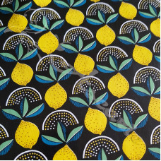 PVC Table Coverings Lemons on Black
