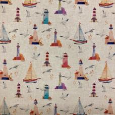 Digital Linen Sailing  Cotton Rich Fabric