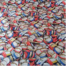 Bottle Tops  Cotton Rich Linen Look Fabric