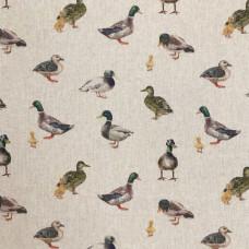 Digital Linen Mallards Cotton Rich Fabric