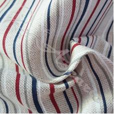 Cotton Rich Linen Look Nautical Stripes