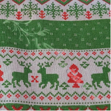Cotton Rich Linen Look Scandi Christmas Green