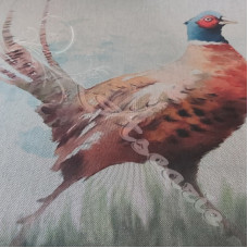 3 x  Digital Pheasant Panels on Cotton Rich Fabric