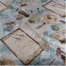 Safari Cotton Rich Linen Look Fabric
