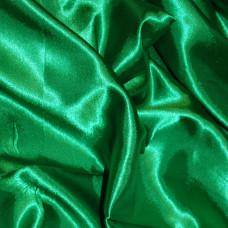 Plain Emerald Green Polyester Satin