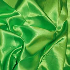Plain Lime Green Polyester Satin