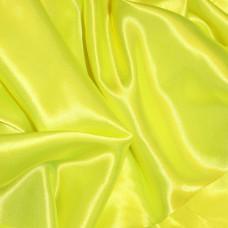 Plain Yellow Polyester Satin