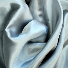 Plain Silver Polyester Satin