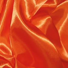 Plain Orange Polyester Satin