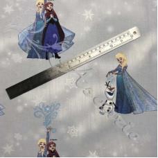 Disney Frozen  Anna and Elsa 100% Cotton Print