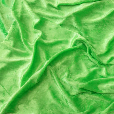 Crushed Velvet Lime Green