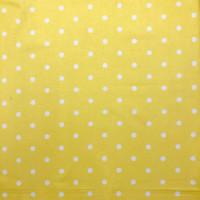 Yellow Dotty Spot 100% Cotton