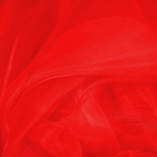 Red Plain Dyed Sheer Organza Fabric