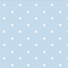 .93cm Dotty Spot Powder Blue 100% Cotton