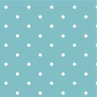 Dotty Spot Turquoise 100% Cotton