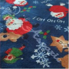 Ho Ho Ho Christmas Brushed  Cotton Fabric
