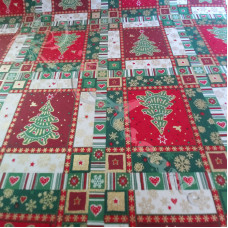 Christmas Patchwork 100% Cotton from Rose & Hubble