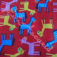 1.8mtr Donkeys on Red Polycotton