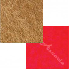 2 pieces of  Plain Felt Teddy Brown & Red