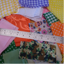 Small Off Cuts  Fabric Bundle inc 100% Cottons & PolyCottons
