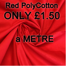 SPECIAL OFFER Red PolyCotton