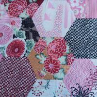Pink Hexagonal Patchwork  100% Cotton
